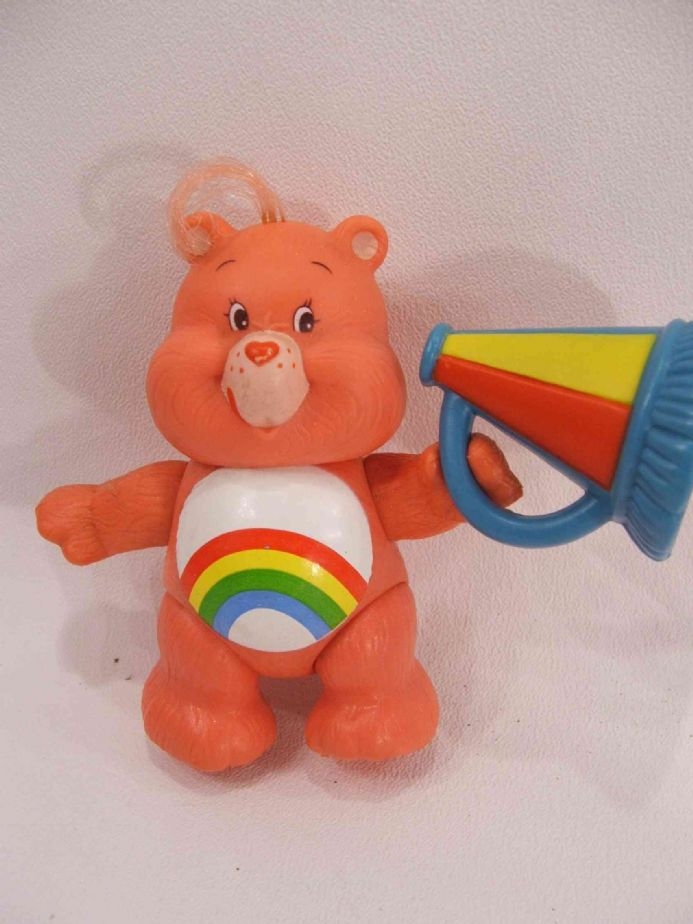 VINTAGE CHEER CARE BEARS POSEABLE + ACCESSORY